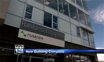 UNM Puts Finishing Touches on 'Lobo Rainforest' Building